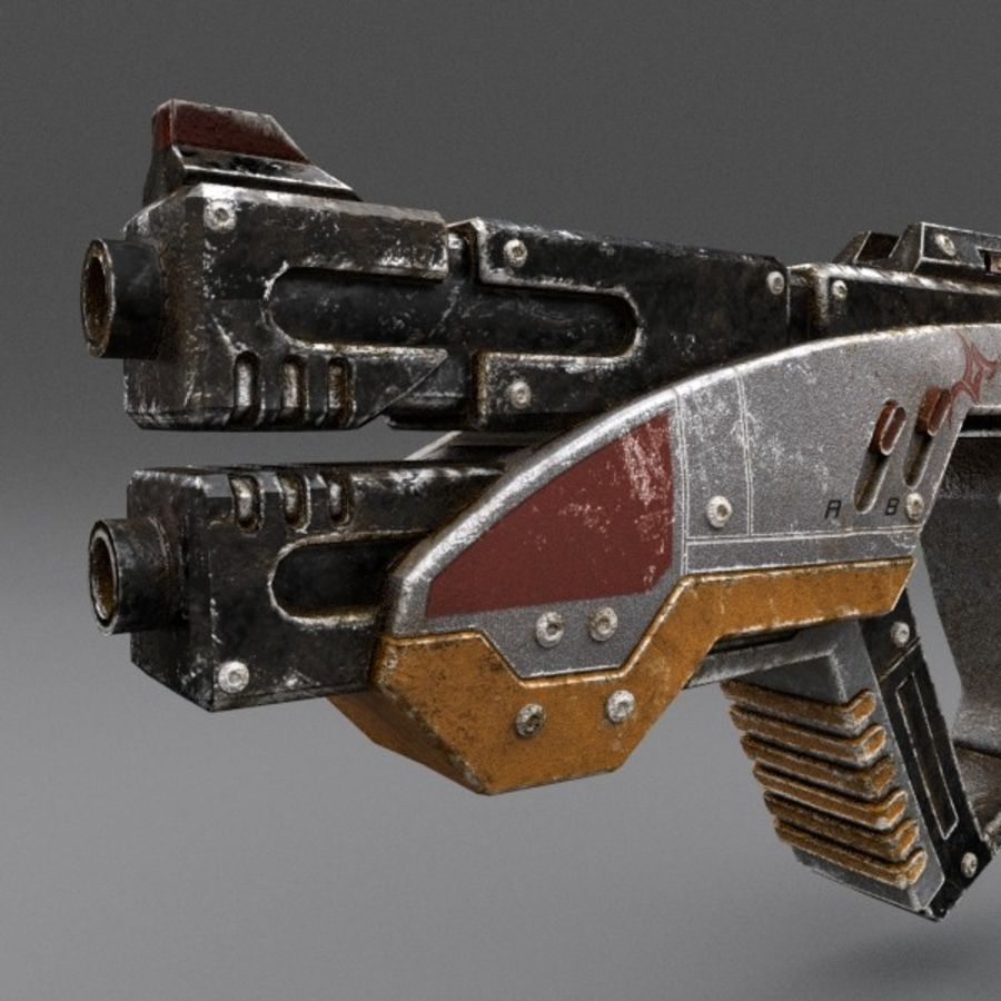 Scifi Gun 02 royalty-free 3d model - Preview no. 5