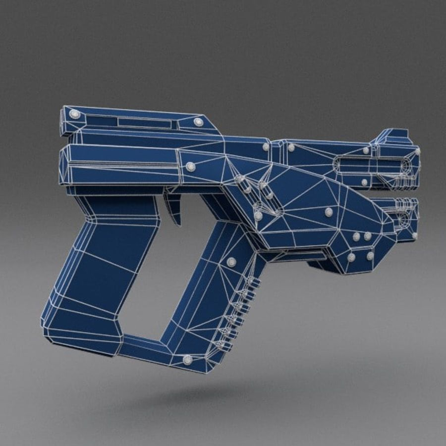 Scifi Gun 02 royalty-free 3d model - Preview no. 4