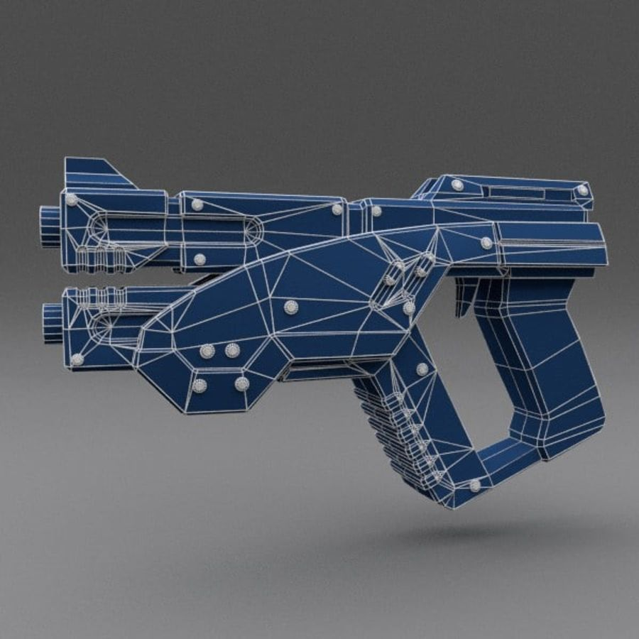 Scifi Gun 02 royalty-free 3d model - Preview no. 2