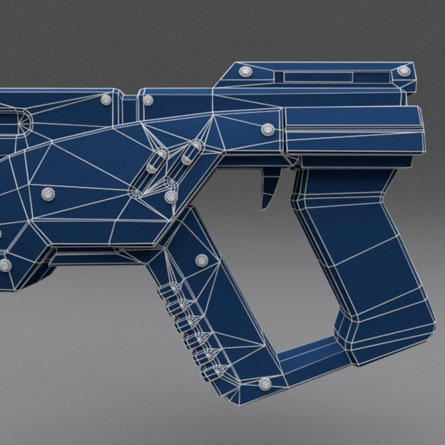 Scifi Gun 02 royalty-free 3d model - Preview no. 8