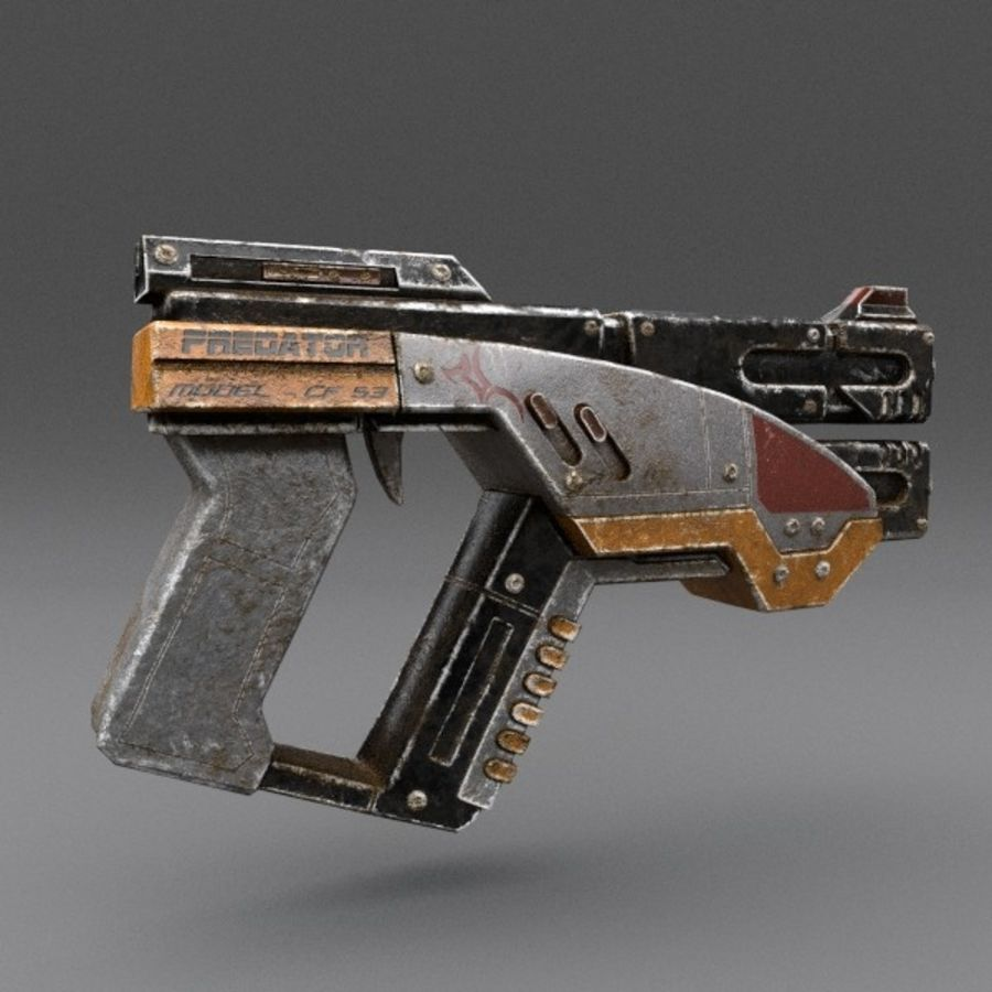 Scifi Gun 02 royalty-free 3d model - Preview no. 3
