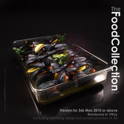 Mussels in a Glass Dish 3d model