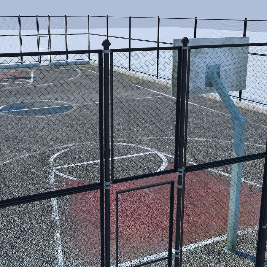 terrain de basketball royalty-free 3d model - Preview no. 3