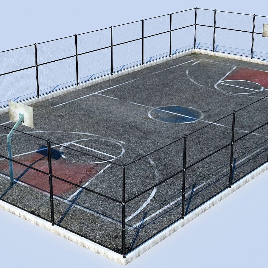 terrain de basketball royalty-free 3d model - Preview no. 2