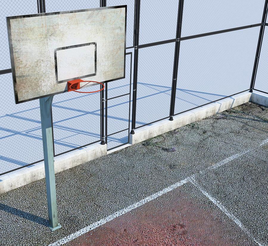 terrain de basketball royalty-free 3d model - Preview no. 1