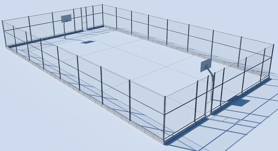 terrain de basketball royalty-free 3d model - Preview no. 8