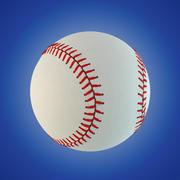 Piłka baseballowa 3d model