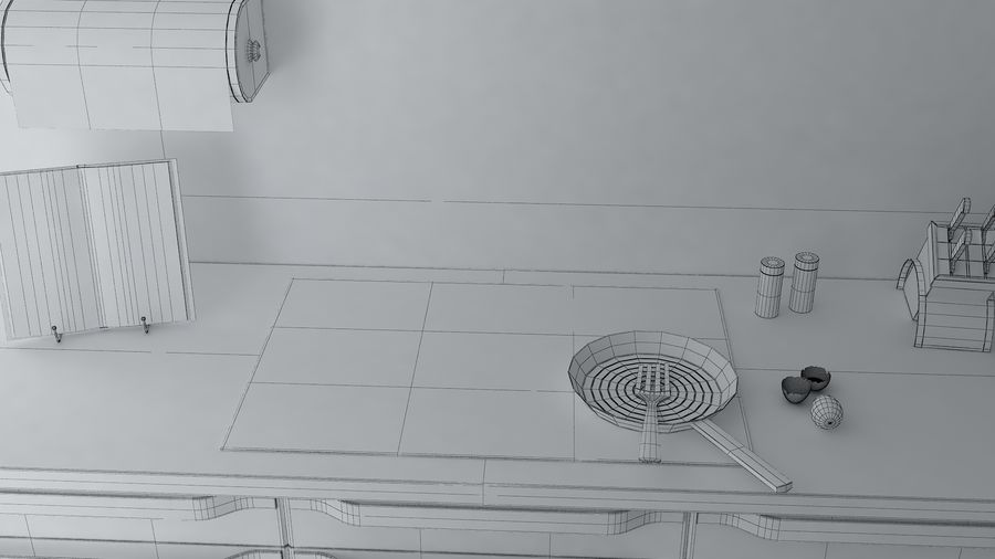 kitchen Interior Design royalty-free 3d model - Preview no. 9