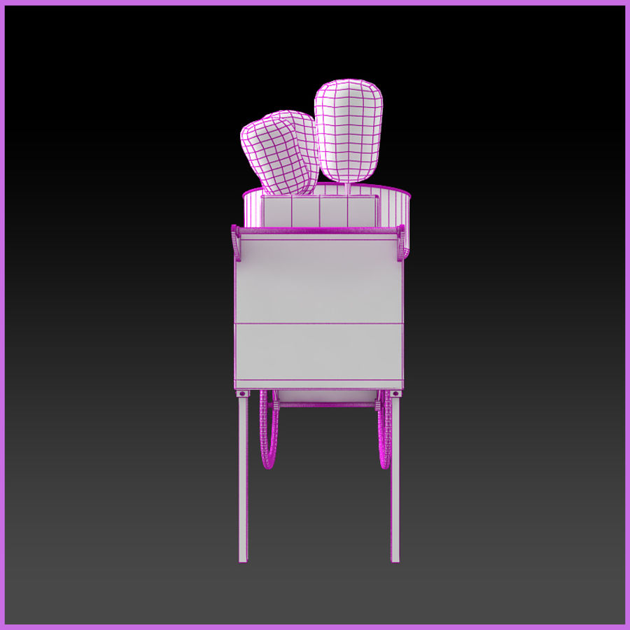 Cotton Candy Cart royalty-free 3d model - Preview no. 8
