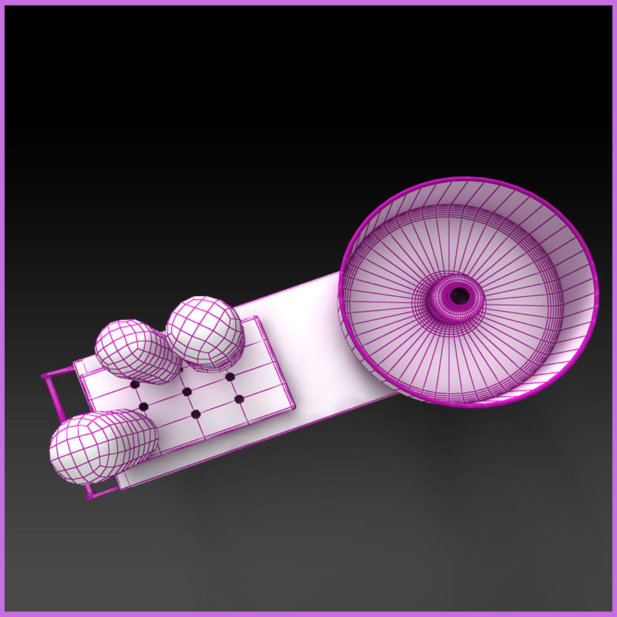 Cotton Candy Cart royalty-free 3d model - Preview no. 11