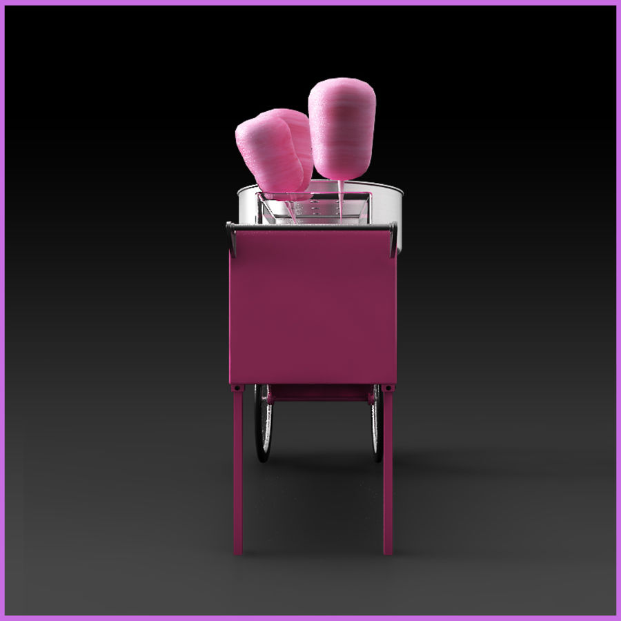 Cotton Candy Cart royalty-free 3d model - Preview no. 2