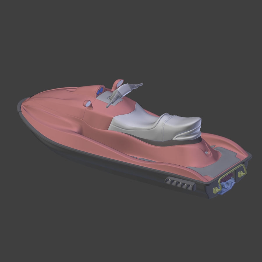 제트 스키 V4 royalty-free 3d model - Preview no. 15