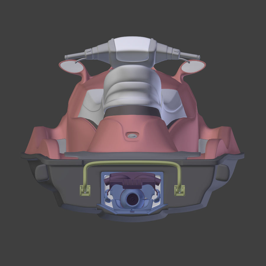 제트 스키 V4 royalty-free 3d model - Preview no. 11