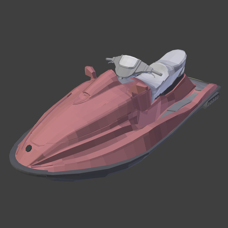 제트 스키 V4 royalty-free 3d model - Preview no. 7