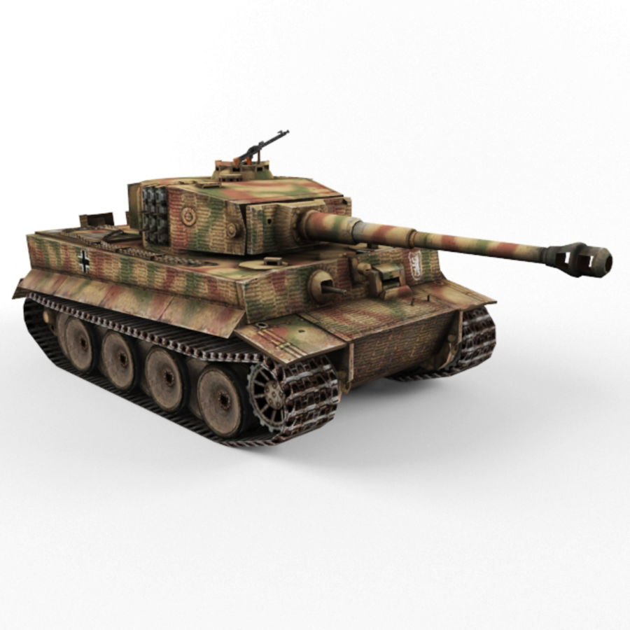 Tiger I royalty-free 3d model - Preview no. 7