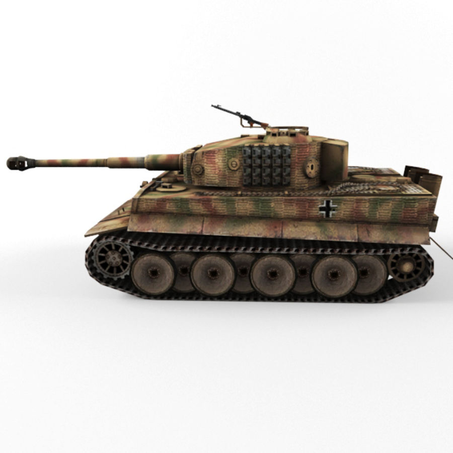 Tiger I royalty-free 3d model - Preview no. 2