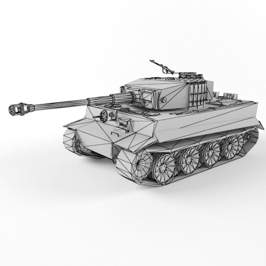 Tiger I royalty-free 3d model - Preview no. 11