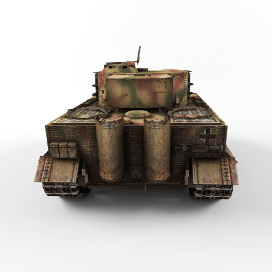Tiger I royalty-free 3d model - Preview no. 4