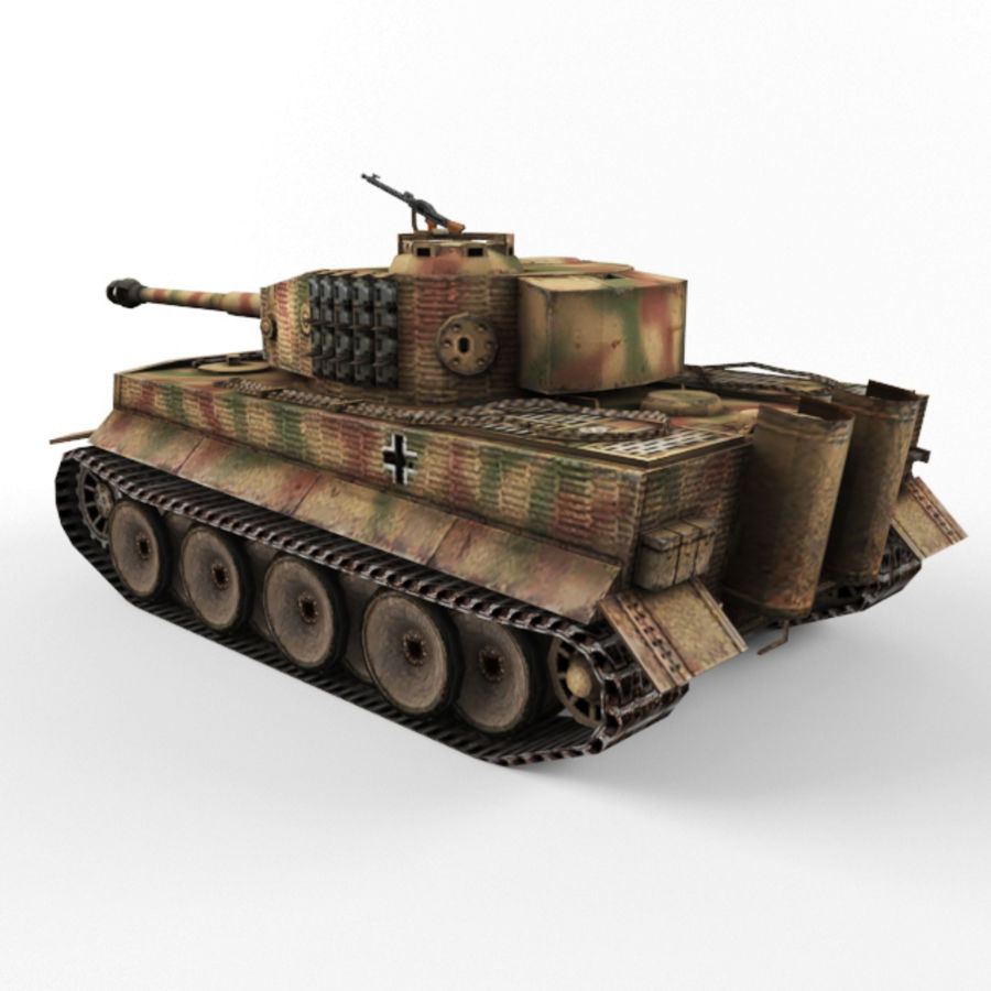 Tiger I royalty-free 3d model - Preview no. 3