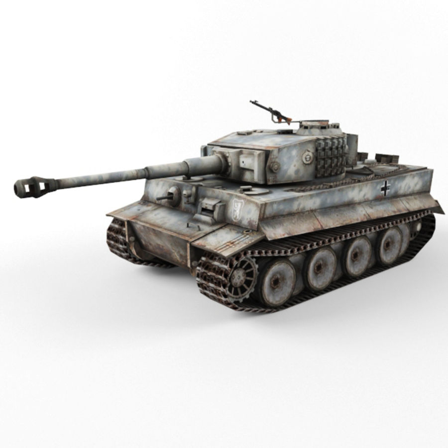 Tiger I royalty-free 3d model - Preview no. 10