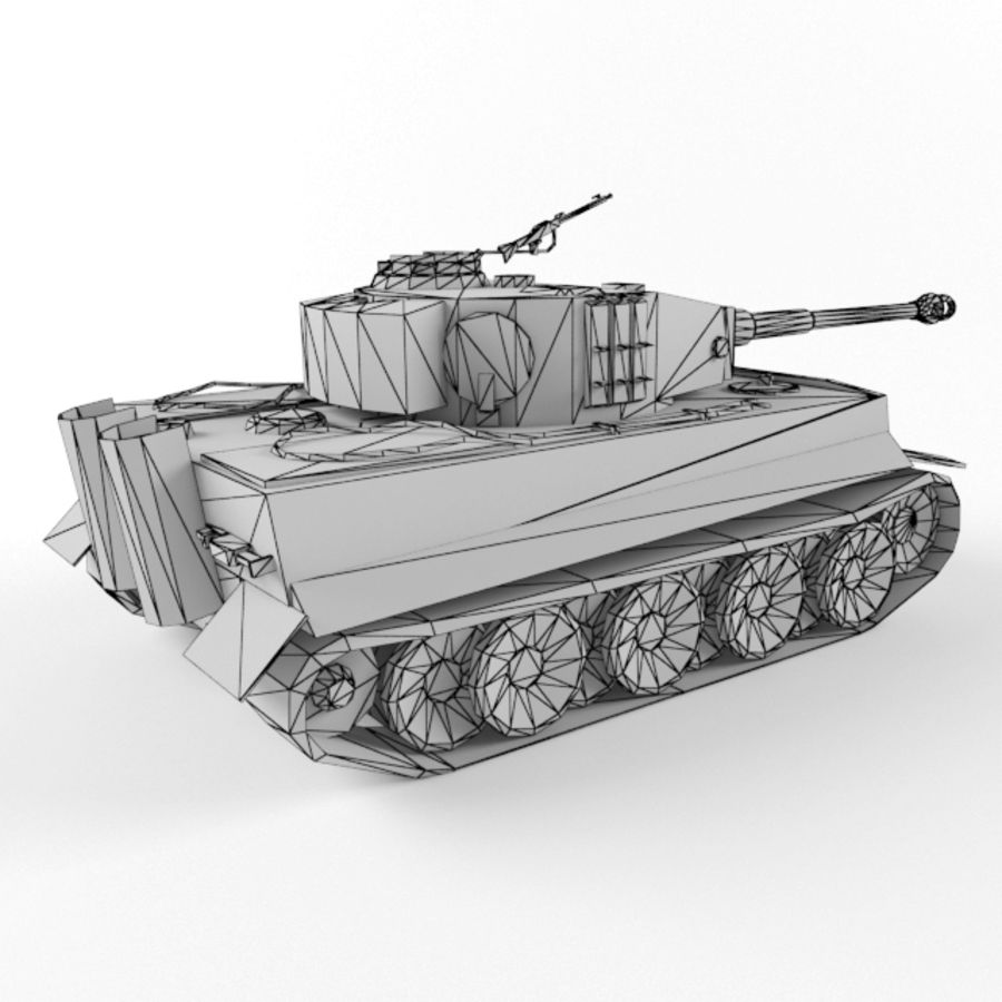 Tiger I royalty-free 3d model - Preview no. 12