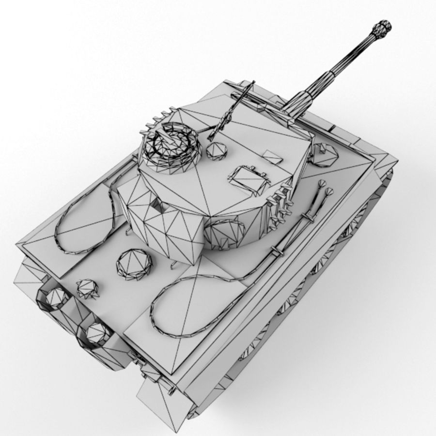 Tiger I royalty-free 3d model - Preview no. 13
