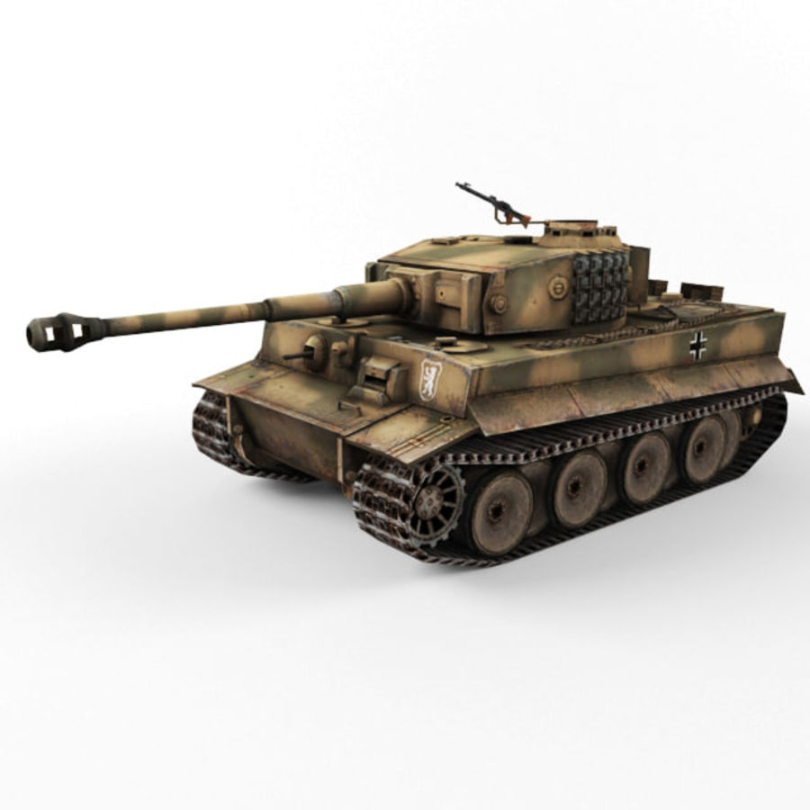 Tiger I royalty-free 3d model - Preview no. 9