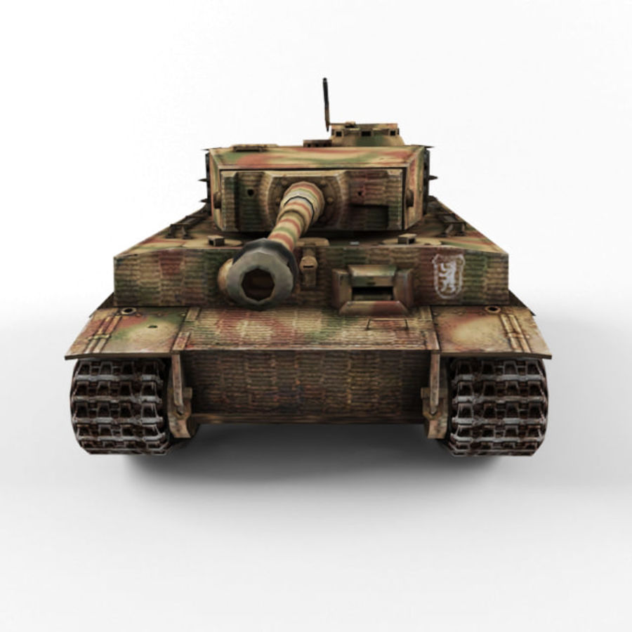 Tiger I royalty-free 3d model - Preview no. 8