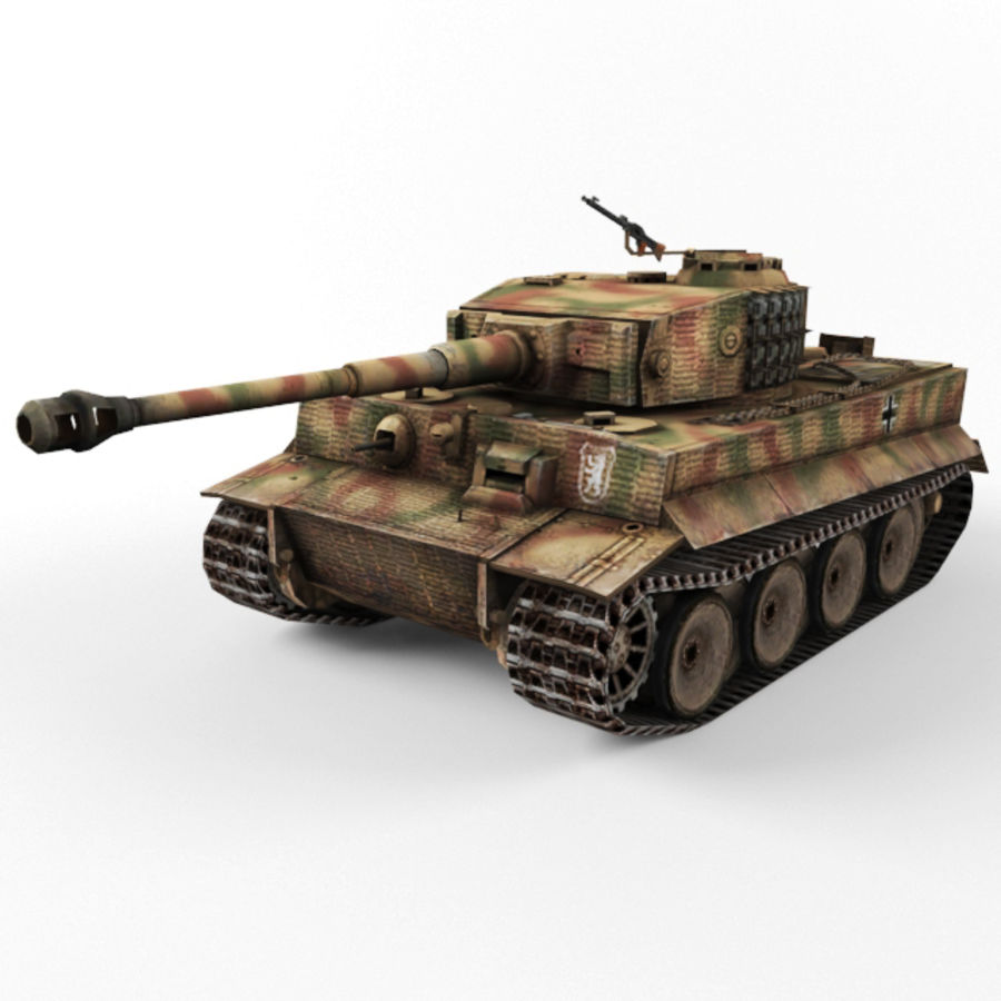 Tiger I royalty-free 3d model - Preview no. 1