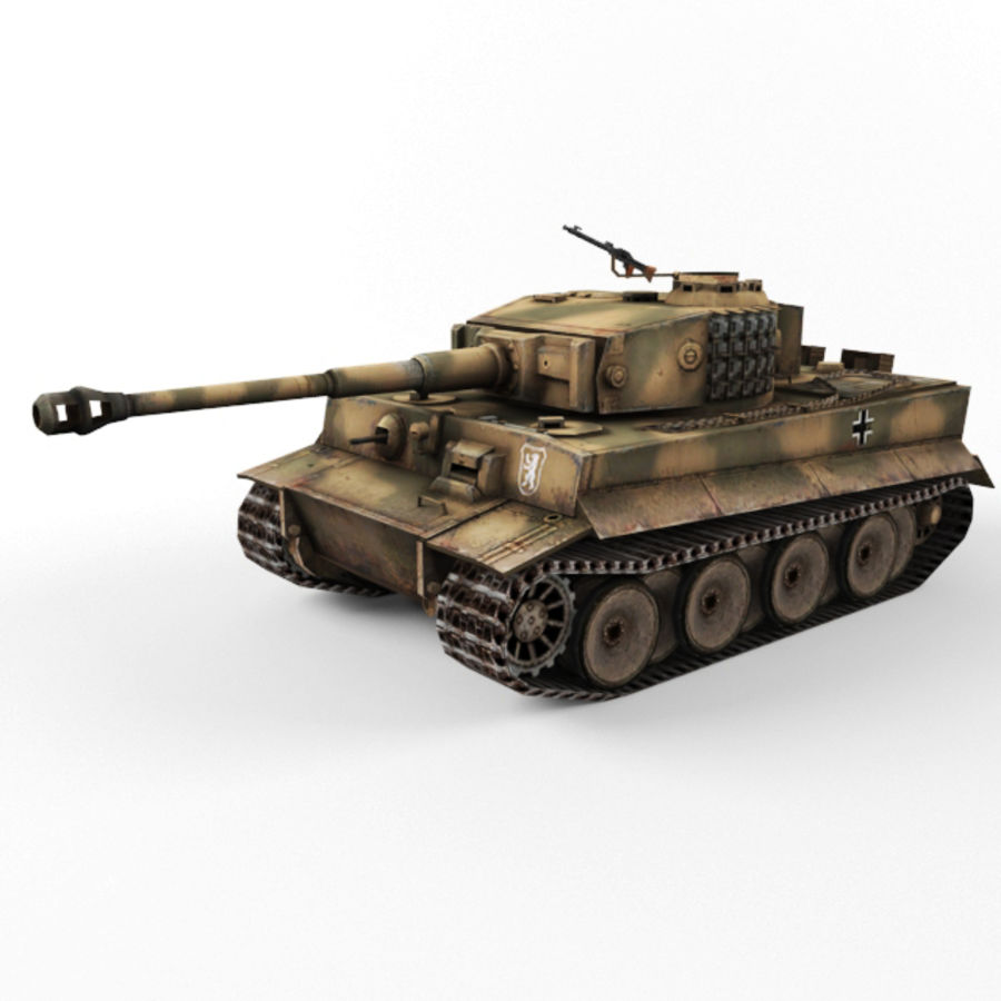 Tiger I royalty-free 3d model - Preview no. 9