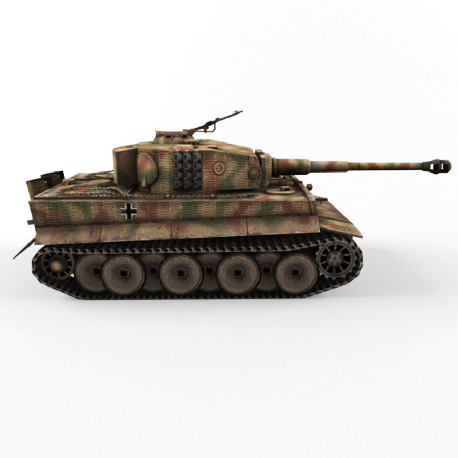 Tiger I royalty-free 3d model - Preview no. 6