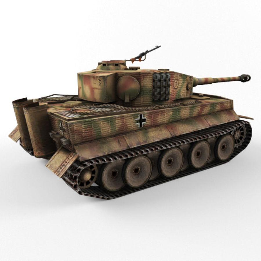 Tiger I royalty-free 3d model - Preview no. 5
