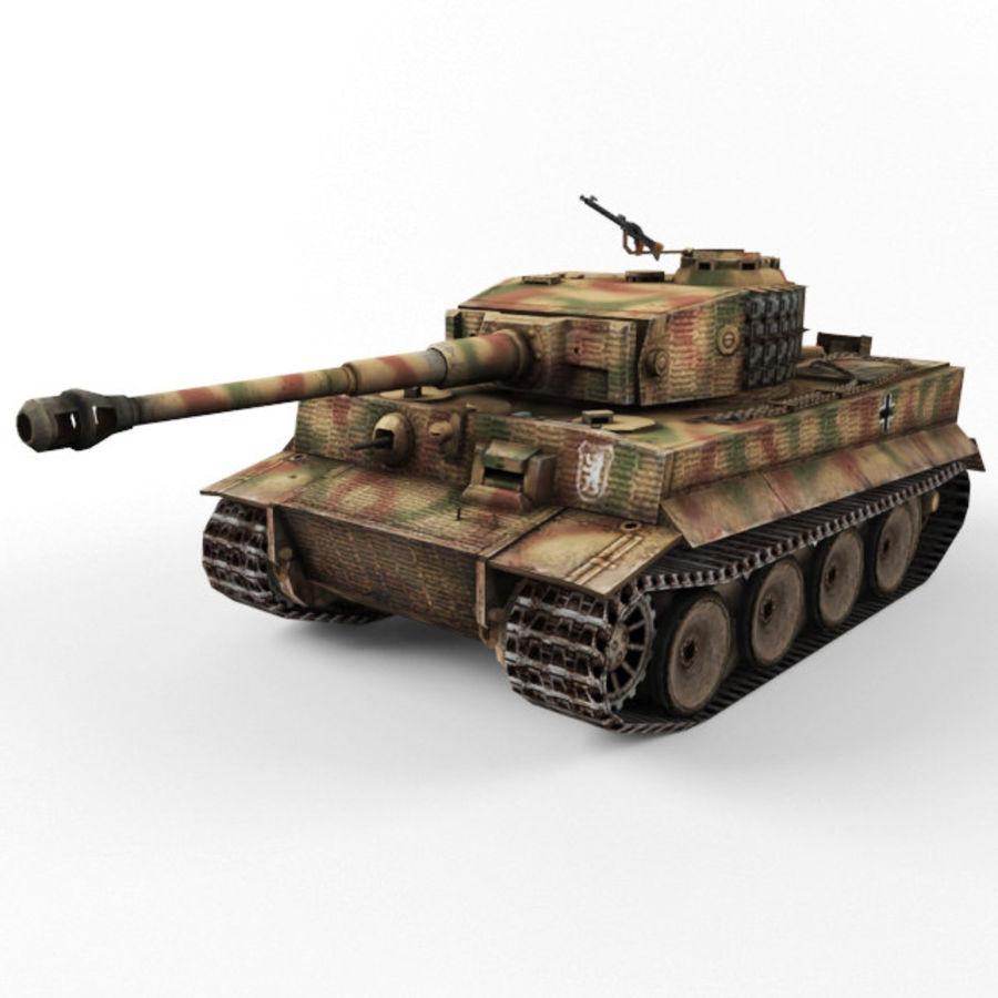 Tiger I royalty-free 3d model - Preview no. 1
