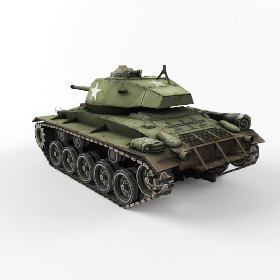 M24 Chaffee royalty-free 3d model - Preview no. 3