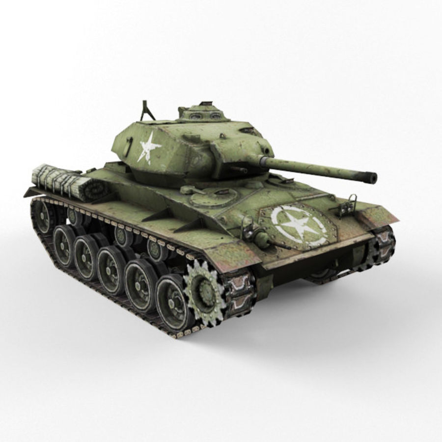 M24 Chaffee royalty-free 3d model - Preview no. 7