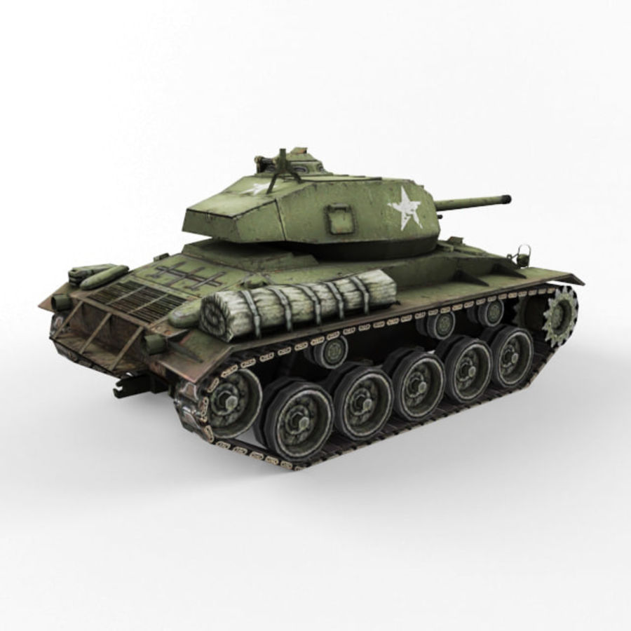 M24 Chaffee royalty-free 3d model - Preview no. 5
