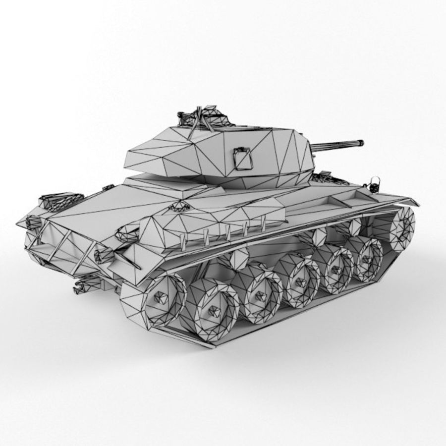 M24 Chaffee royalty-free 3d model - Preview no. 10