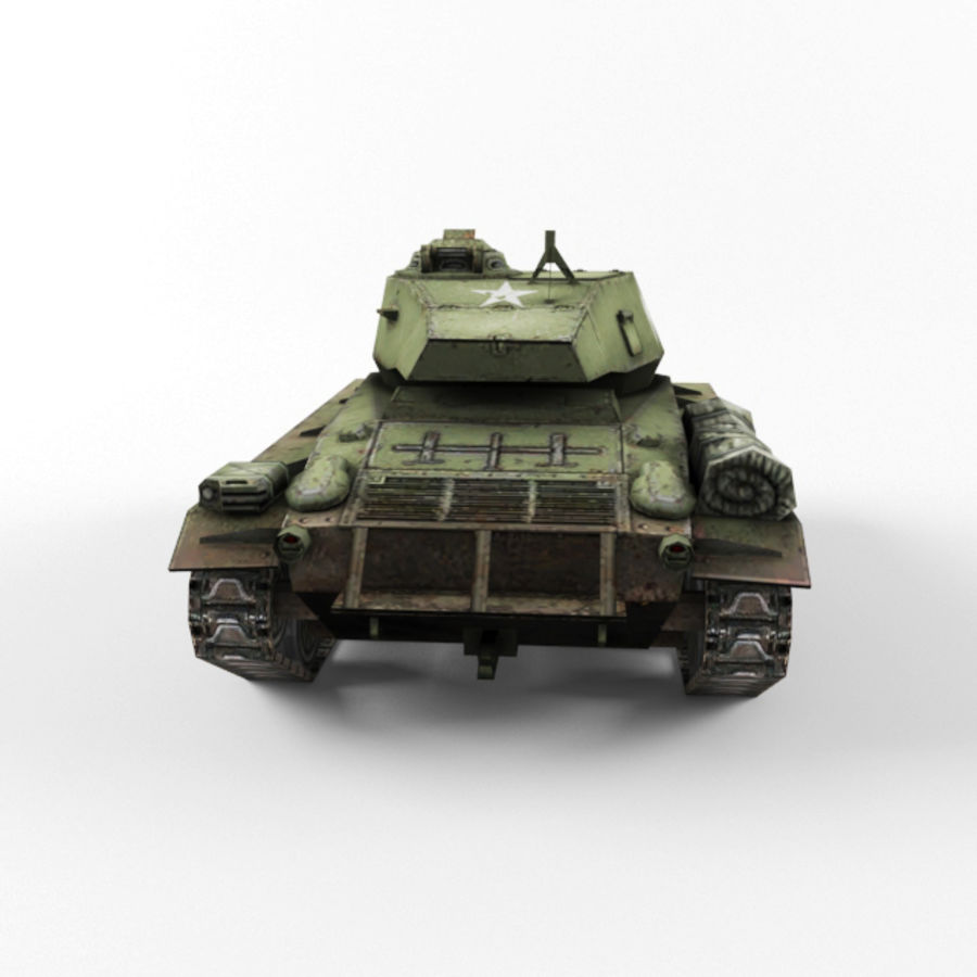 M24 Chaffee royalty-free 3d model - Preview no. 4