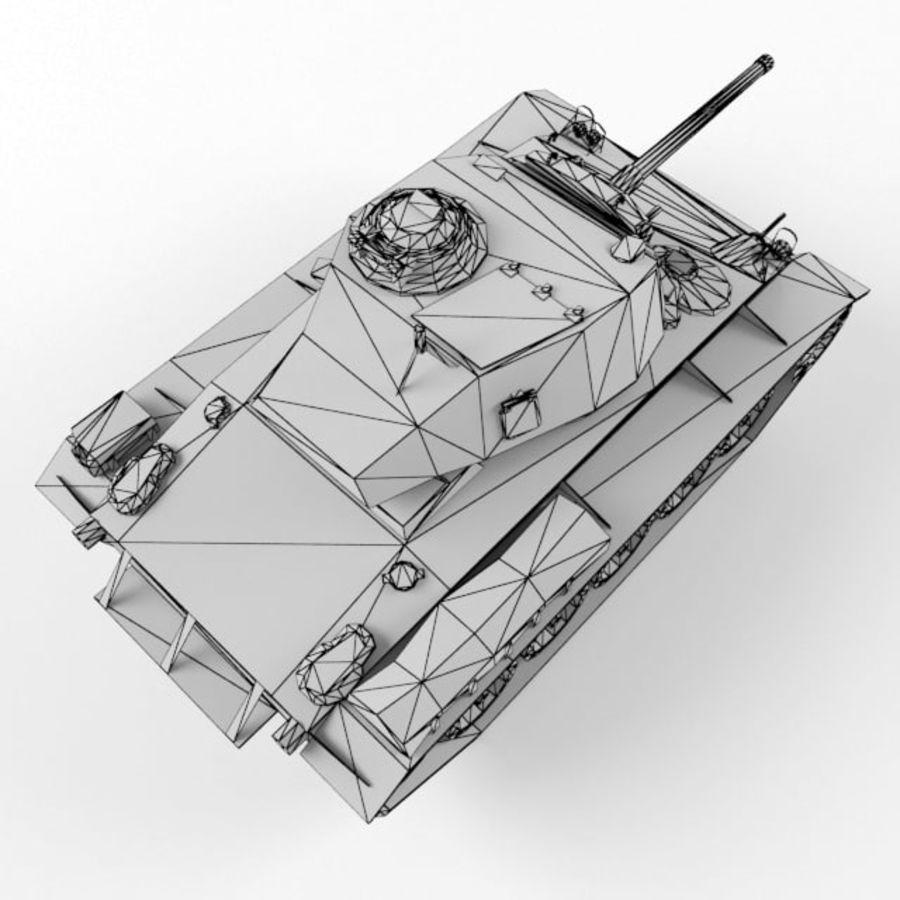 M24 Chaffee royalty-free 3d model - Preview no. 11