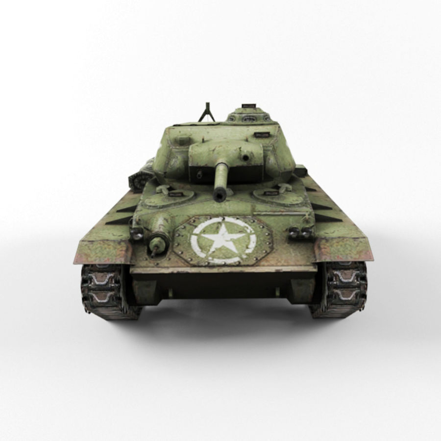 M24 Chaffee royalty-free 3d model - Preview no. 8
