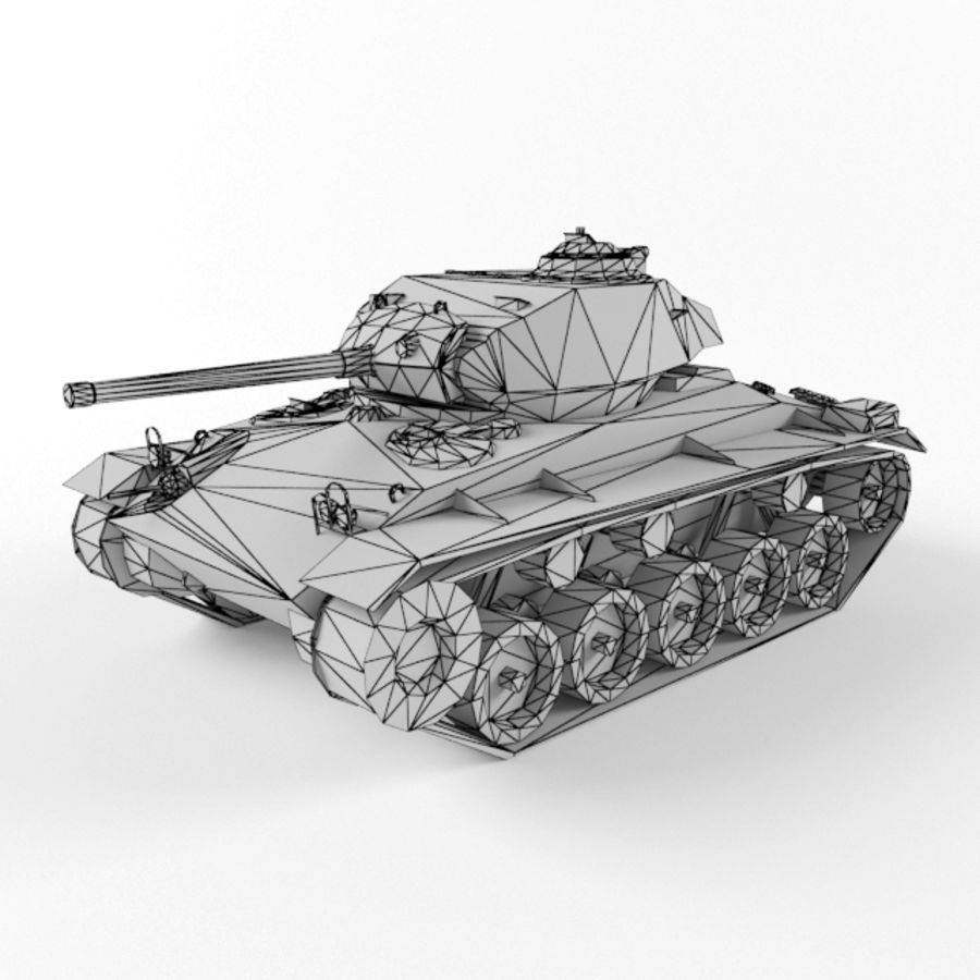 M24 Chaffee royalty-free 3d model - Preview no. 9