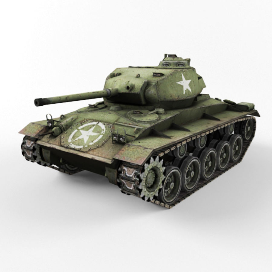 M24 Chaffee royalty-free 3d model - Preview no. 1
