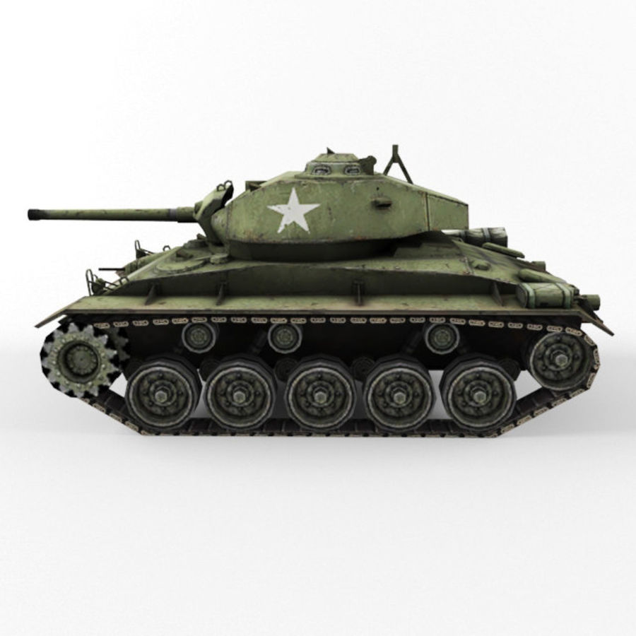 M24 Chaffee royalty-free 3d model - Preview no. 2