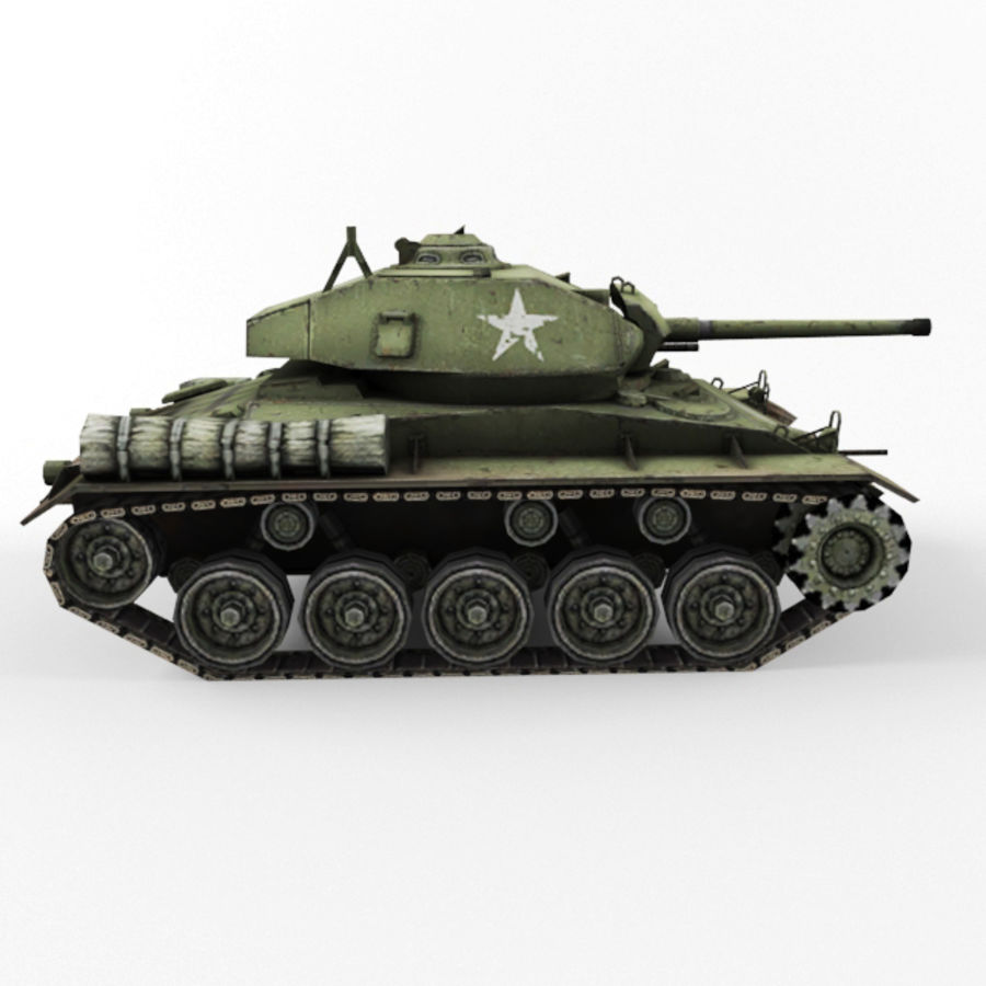 M24 Chaffee royalty-free 3d model - Preview no. 6