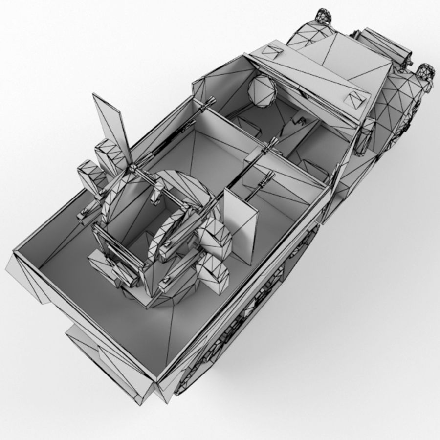 Half-track M3 royalty-free 3d model - Preview no. 11