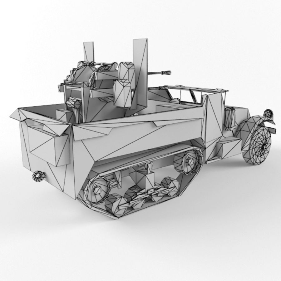 Half-track M3 royalty-free 3d model - Preview no. 10