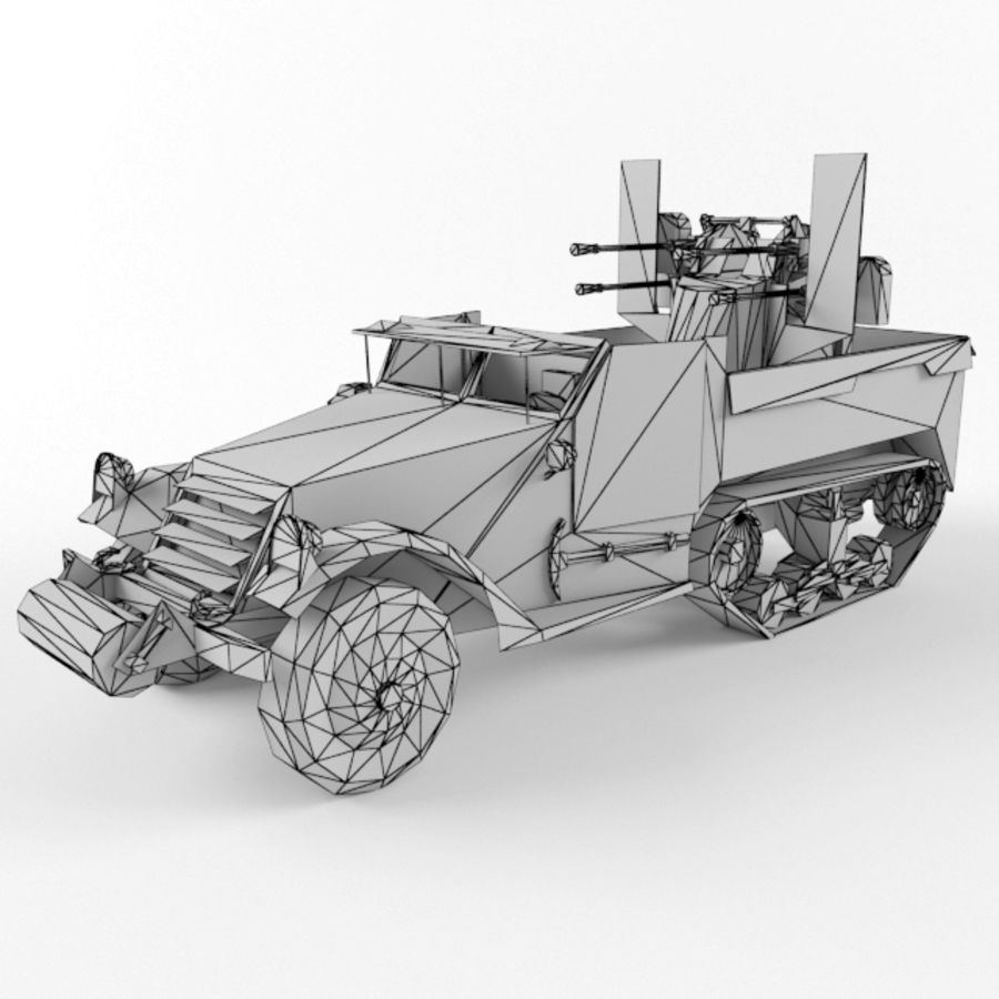 Half-track M3 royalty-free 3d model - Preview no. 9