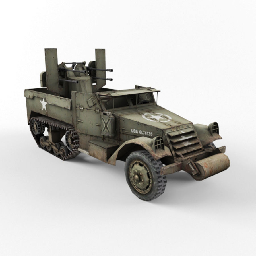 Half-track M3 royalty-free 3d model - Preview no. 7
