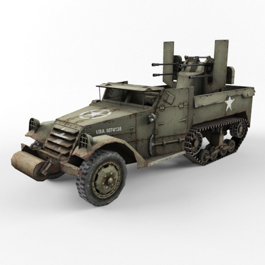Half-track M3 royalty-free 3d model - Preview no. 1