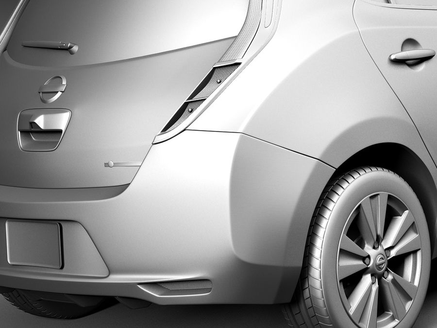 Nissan LEAF 2014 royalty-free 3d model - Preview no. 11